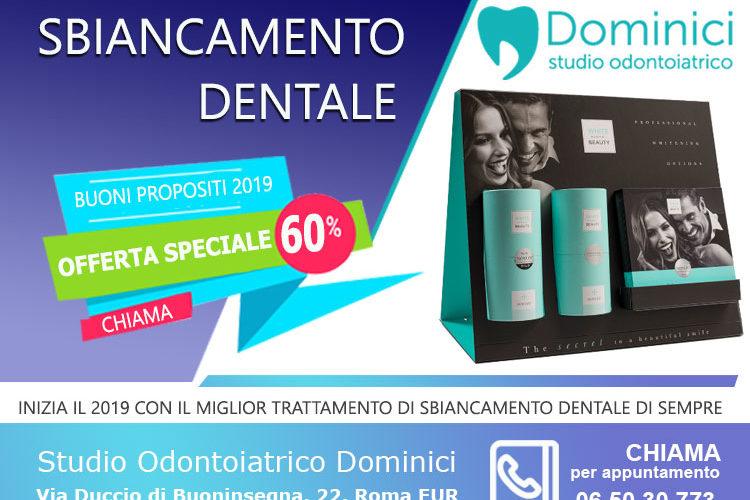 offerta sbiancamento dentale roma studio dentistico dominici